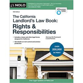 """""""California Landlord's Law Book, The: Rights & Responsibilities"""
