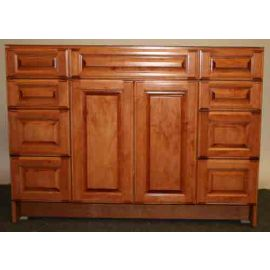48 inch Classic Legacy Vanity with 8 Drawers in Honey Finish