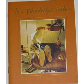 TO A WONDERFUL FATHER - CARD/BOOK
