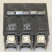100 AMP 3 Pole Circuit Breaker - QP Plug In Style By Siemens