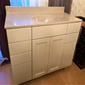 48 inch Craftsman Vanity with 8 Drawers